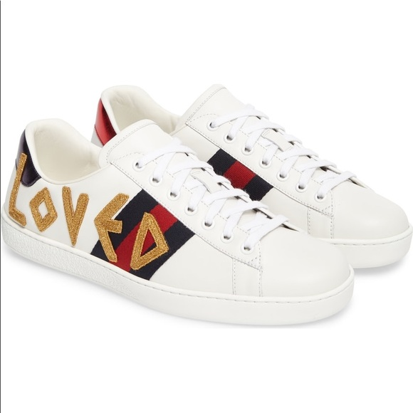 4aeb761f9b8 Gucci Shoes - Gucci Ace Loved Sneakers